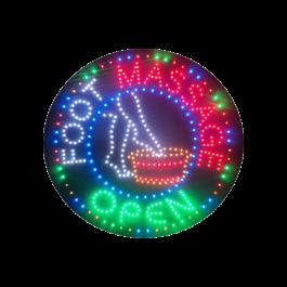 LED Flashing Foot Massage Open Sign