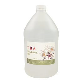 TOA Soothing Hydrating Natural Body Spa Massage Mineral Oil For Professional Massage Therapists Unscented Bottle of 1 Gallons Free Shipping