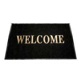 Large Welcome Mat -Black