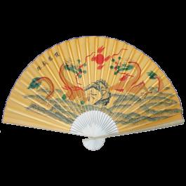 "Large 84"" Folding Chinese Wall Fan Oriental Paper Hanging (Dragon)"