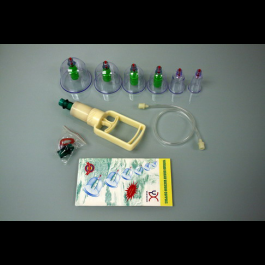 Plastic Acupuncture Massage Therapy Cupping Set- 6 Cups