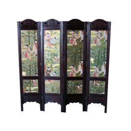 Antique Divider Screen Two sides- Geisha