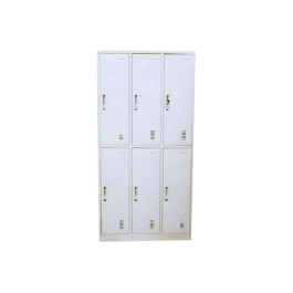 Heavy Duty Metal Compartment Locker - 6 Lockers Thick