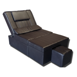 Coffee Manual PU Reclining Foot Massage Sofa- Metal Frame