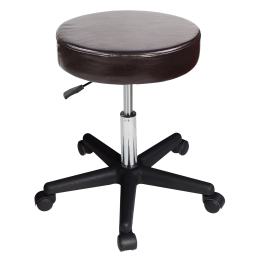 Master Beauty Rolling Swivel Hydraulic Massage Stool (Coffee) Free Shipping