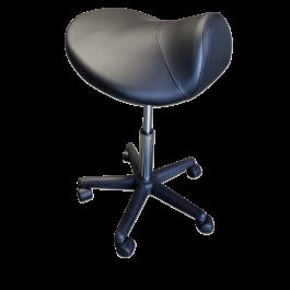 TOA Black Saddle Stool Hydraulic Ergonomic Office Massage Rolling Chair Free Shipping