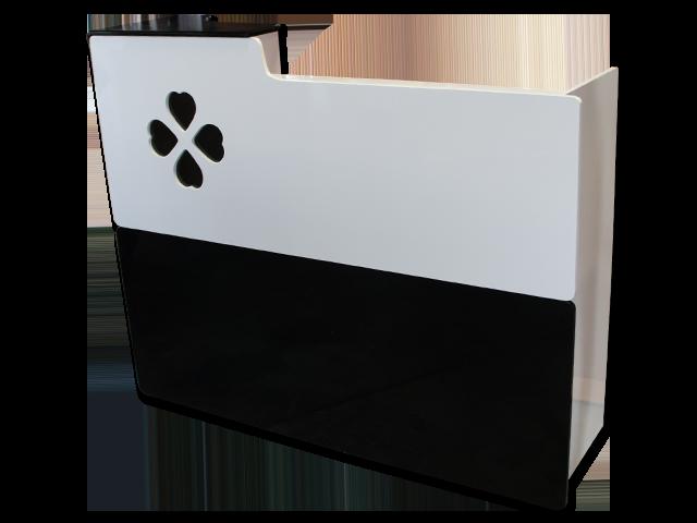 Four Leaf Clover Spa Salon Reception Desk Black White