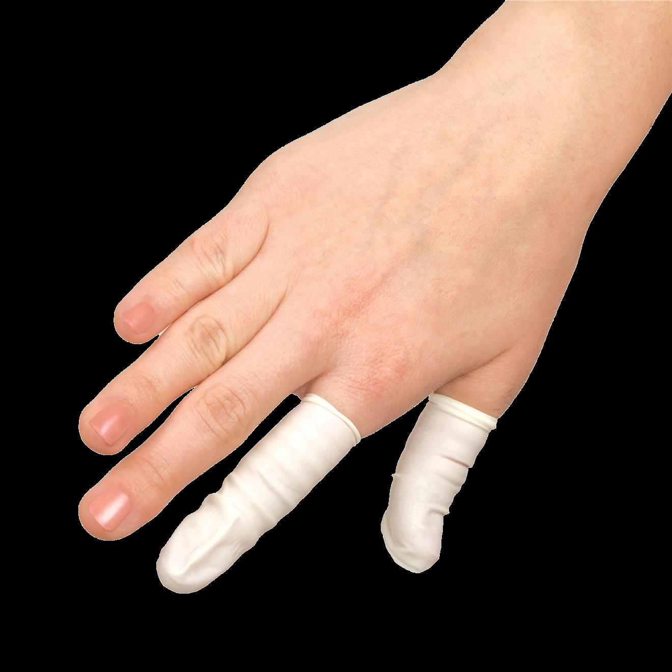 Medical Finger Glove Cots Large Pkg Massage Spa Equipment