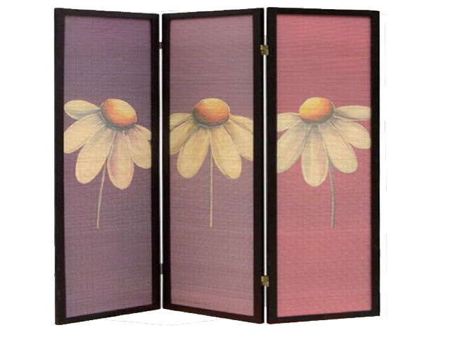Folding Screen Room Divider Flower Massage Spa Equipment
