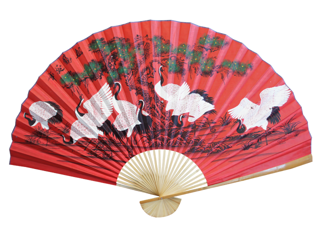 Chinese Decorative Folding Fan Fire Dragon Massage Spa