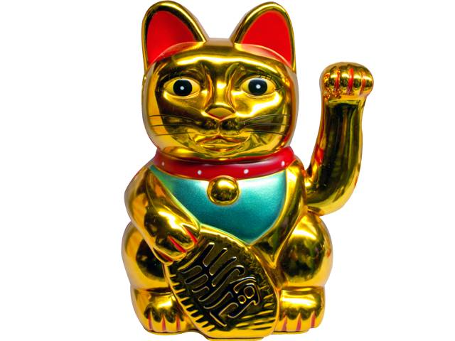 Maneki Neko Lucky Cat Large Massage Spa Equipment Supply