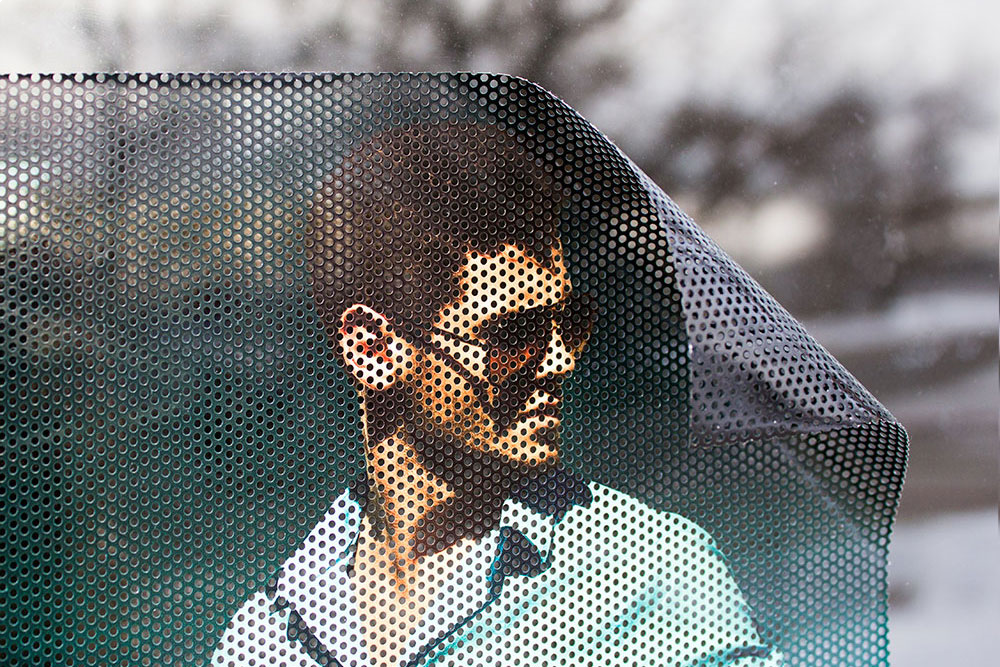 Perforated See Through Window Decal Cling Picture Small