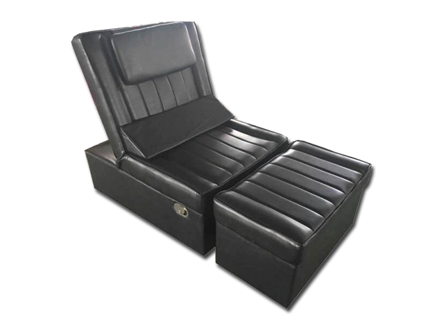 Black Manual Pu Reclining Foot Massage Sofa Massage Spa Equipment Supply