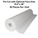"70.5""x28"" 50 Sheet/Roll Disposable White Non-Woven Paper Exam Table Bed Cover Free Shipping"