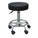 "14"" Round Seat Rolling Hydraulic Steel Pneumatic Stool on Wheels - Black Free Shipping"