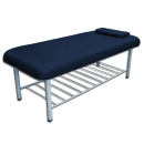 STATIONARY MASSAGE TABLE W/ TRAY RACK- METAL FRAMED 4 Blue  Tables Free Shipping
