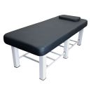 TOA Metal Framed 6 Square Legs Stationary Spa Massage Table Bed w/ Tray Rack