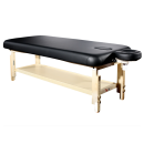 TOA Stationary Adjusting Height Spa Massage Table w/ Tray -1 Black Table