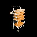 5 Tray Beautician Cart - Orange