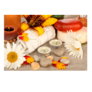 Relaxing Massage Decoration Picture Poster- Flowers & Candles