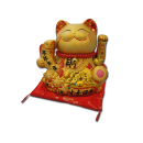 Gold Maneki Neko Lucky Cat Figurine- Large