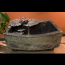 Indoor Outdoor Garden Waterfall Fountain- Big Curved Pond