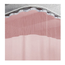 8ft Pink Medical Curtains w/ Track Kit- 9.5ft High Free Shipping
