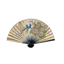 Chinese Folding Fan- Blue Bird