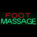 "LED Neon Rope Strip Indoor Sign- ""Foot Massage"""