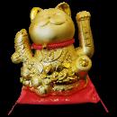 Maneki Neko Lucky Cat Decoration Fortune Cat- with Fish (14-B) Free Shipping