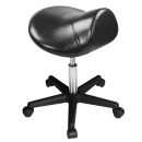 Master Saddle Stool Hydraulic Ergonomic Office Massage Rolling Chair (Black) Free Shipping