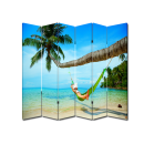 6 Panel Folding Screen Canvas Room Divider- Hammock Free Shipping