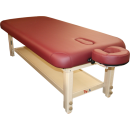 Stationary Burgundy Massage Table