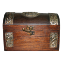 Wooden Treasure Style Jewelry Box