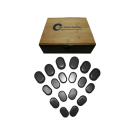 18pc Basalt Unpolished Hot Stone Massage Set