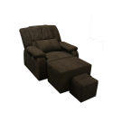 Fabric Adjustable Reclining Foot Massage Sofa- with Armrest Cushions