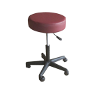 "TOA 16"" Round 4"" Thick Seat Round Rolling Hydraulic Pneumatic Medical Spa Stool With  Wheels - Burgundy"