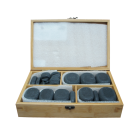40pc Basalt Unpolished Hot Stone Therapy Set
