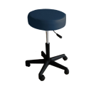 "TOA 16"" Round 4"" Thick Seat Round Rolling Hydraulic Pneumatic Medical Spa Stool With  Wheels - Blue"