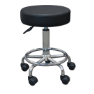 Round Rolling Pneumatic Height Adjusting Stool Free Shipping