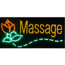 LED Massage Sign With Rose
