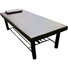 Stationary Massage Table With Thick Legs- Coffee