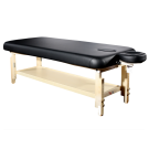 TOA Stationary Adjusting Height Spa Massage Table w/ Tray -1 Black Table Free Shipping