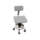 Square Pneumatic Stool with Backrest