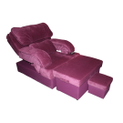 Fabric Foot Massage Sofa - Light Berry