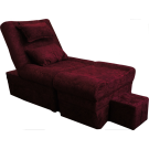 968-34 Velour Fabric Foot Massage Sofa with Legs