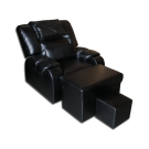 EL0321 Plush PU Reclining Foot Massage Sofa w/ Armrests- Metal Frame