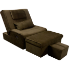 Fabric Adjustable Reclining Foot Massage Sofa- With Lines