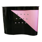 Beauty Spa Reception Desk -Black/Pink