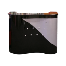 Beauty Spa Reception Desk -Black/Silver